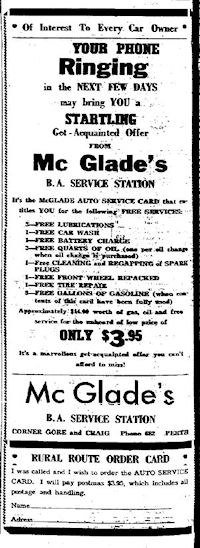 Advert in the Perth Courier, 2 June 1955
