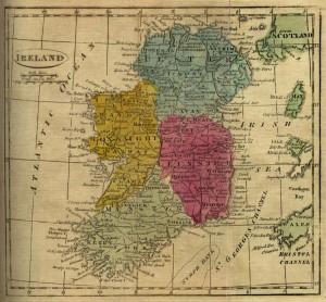 map ireland 1808