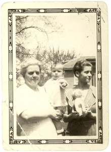 Catherine McCarthy, with daughter Noreen McGlade, and a McGlade granddaughter