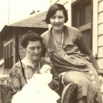 Bridget Loreto (Killeen) Lahey, with daughter Mary Gladys (Lahey) Cunningham and grandson John Cunningham