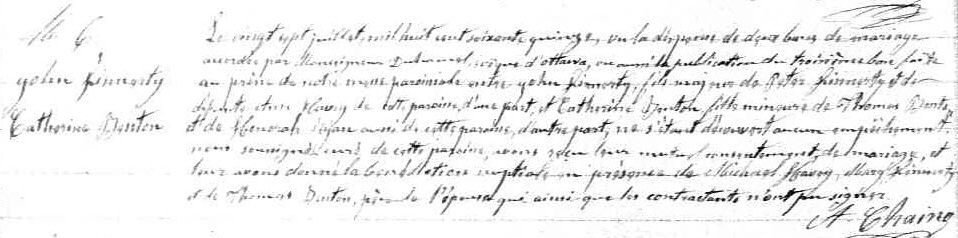 Translating French Records: Catholic Marriage Records