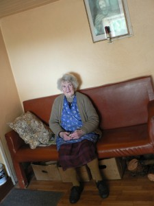 Hannie McCarthy (1918-2010), at Farramanagh, Kilcrohane (Co. Cork, Ireland)