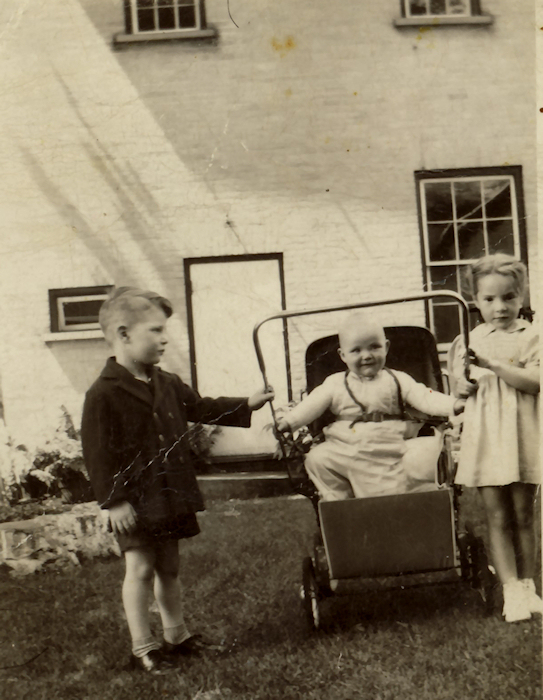 Catherine Frances McGlade (far right) with neighbourhood children, Perth, Lanark Co., Ontario
