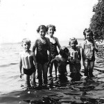 McGlade Children, Cottage at Mississippi Lake, Carleton Place, Lanark Co., Ontario, early 1940s.