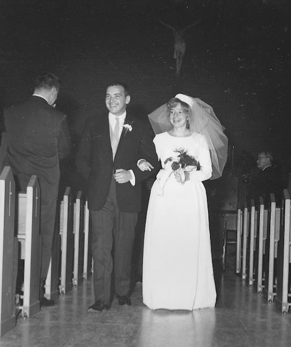 Wedding recessional, Our Lady of Fatima, 26 December 1963.
