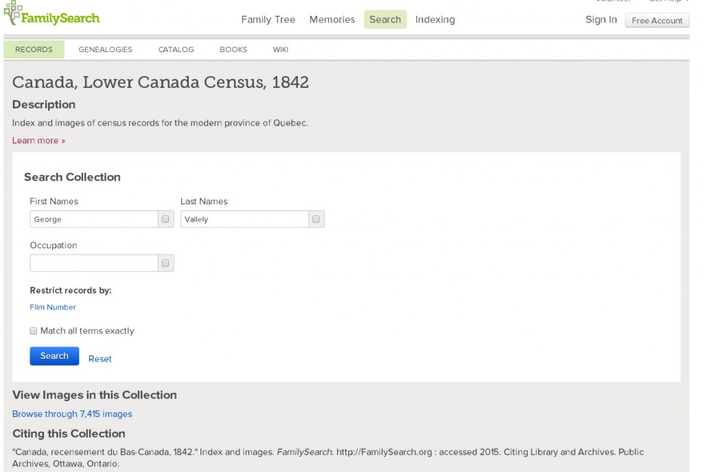 1842 census search box
