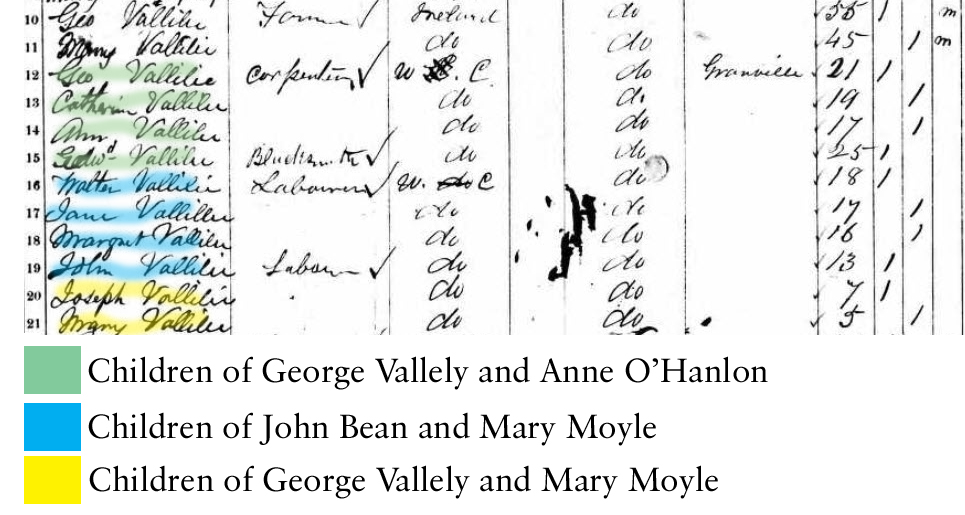 vallely_george 1861 census