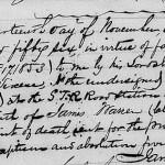 Profession of Faith of James Warren, 14 November 1856